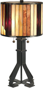 Dale Tiffany 2-Light Tiffany Table Lamp Dark Antique Bronze TT90273
