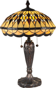 Dale Tiffany Ginger Diamond Tiffany Table Lamp Antique Bronze TT15154