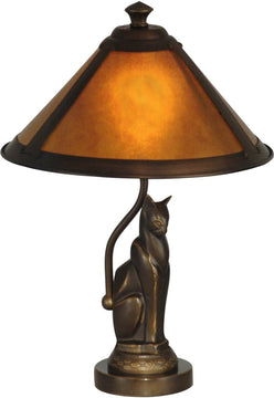 "17""H 1-Light Mica Accent Lamp Antique Bronze"