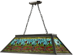"44""w Glade Pool 4-Light Pendant Dark Bronze"