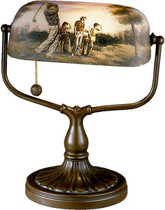 "13""h Golf Handale Table Lamp Antique Bronze"