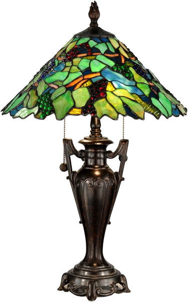 Dale Tiffany Grape Tree 2-Light Table Lamp Fieldstone TT12367