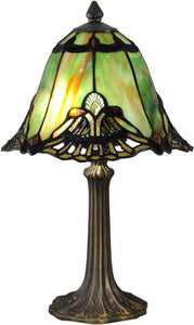 Green Haiawa Tiffany Accent Lamp Antique Bronze