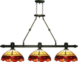 Dale Tiffany Groveland 3-Light Island Light Antique Brass  TH12064
