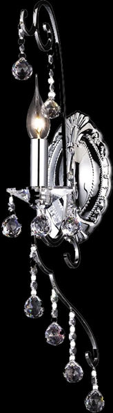Dale Tiffany 1-Light Crystal Wall Sconce Polished Chrome GW10297