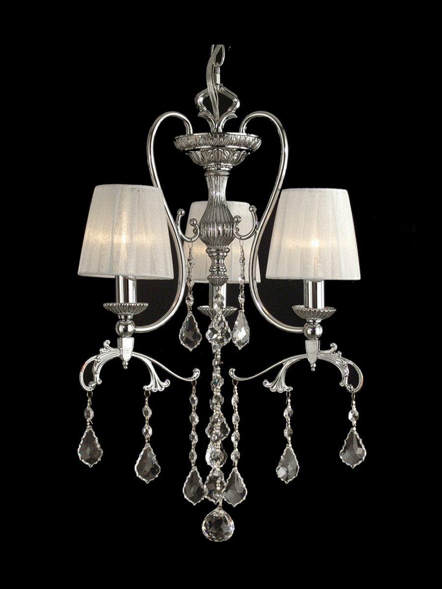 "16""W Hay Street 3-Light Pendant Polished Chrome"