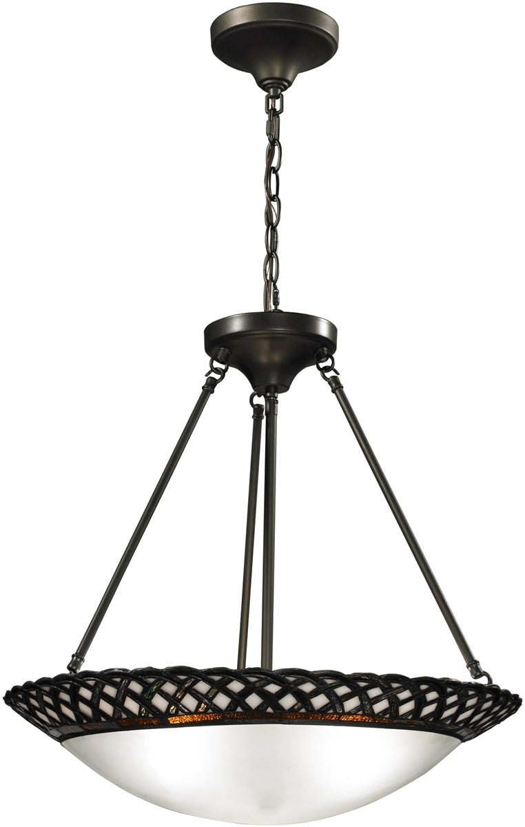 "20""W Hillcrest 3-Light Pendant Dark Bronze"