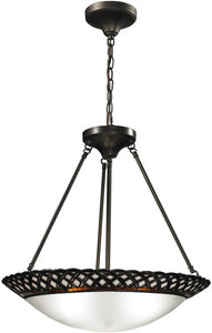 Dale Tiffany Hillcrest 3-Light Pendant Dark Bronze TH12317