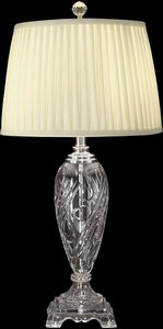 Dale Tiffany 1-Light 3-Way Glass Table Lamp Nickel GT10231