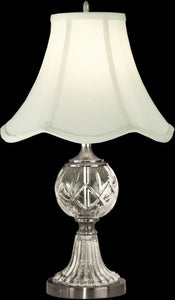 Dale Tiffany 1-Light 3-Way Glass Table Lamp Pewter GT10356