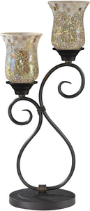 Dale Tiffany Hunters Creek Art Glass Table Lamp Antique Bronze TT14279
