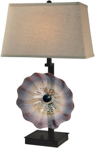 Impasto Art Glass Table Lamp Antique Bronze