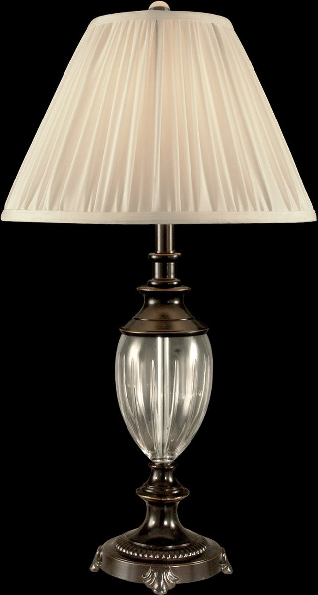 "30""H 1-Light Crystal Table Lamp Oil Rubbed Bronze"