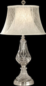 "27""h 1-Light 3-Way Glass Table Lamp Chrome"