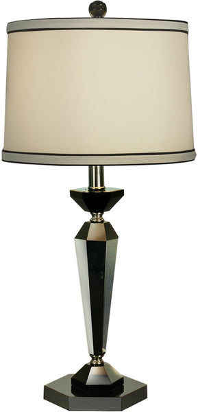Dale Tiffany 1-Light 3-Way Table Lamp Black Nickel GT70036