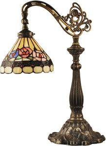 Dale Tiffany Lea Bridge Tiffany Table Lamp Antique Bronze TT14161