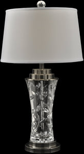 Leaf Vine Crystal Table Lamp Antique Bronze