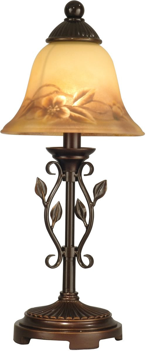 "17""h 1-Light Art Glass Accent Lamp Antique Golden Sand"