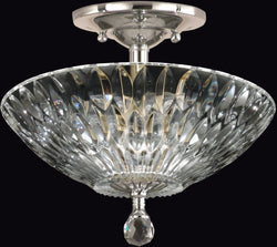 Dale Tiffany Lightwater Crystal Semi Flush Antique Bronze GH60718PC