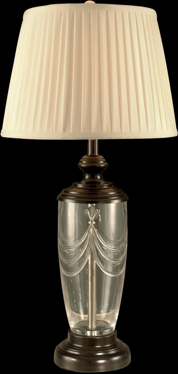 "31""H 1-Light Crystal Table Lamp Oil Rubbed Bronze"