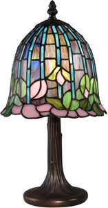 Lotus Tiffany Accent Lamp Antique Bronze