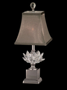 Dale Tiffany Lucinda 1-Light Accent Lamp Polished Nickel GA11211