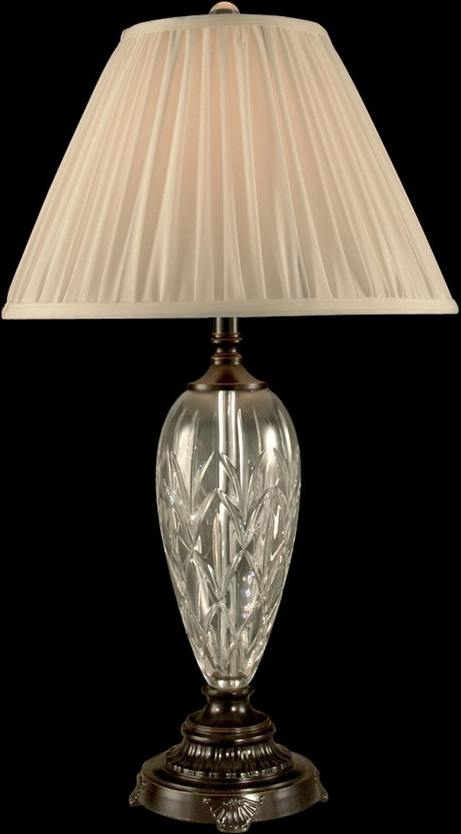 "29""h 1-Light Crystal Table Lamp Oil Rubbed Bronze"