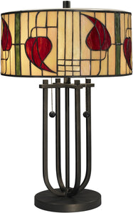 Dale Tiffany Macintosh 2-Light Table Lamp Dark Bronze TT12325