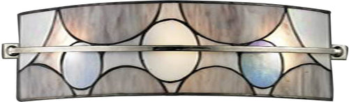 Dale Tiffany Meridian 1-Light Wall Sconce Brushed Nickel TW13017