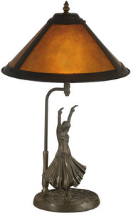 Dale Tiffany 1-Light Mica Table Lamp Antique Bronze TT11185
