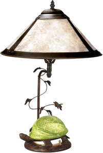 Dale Tiffany 1-Light 3-Way Mica Table Lamp Antique Bronze TT10840
