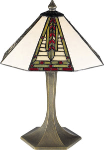 Dale Tiffany Mini Dana 1-Light Table Lamp Antique Brass  7585532