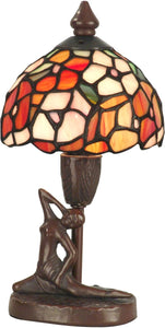 Dale Tiffany 1-Light Tiffany Accent Lamp Antique Bronze TA11014