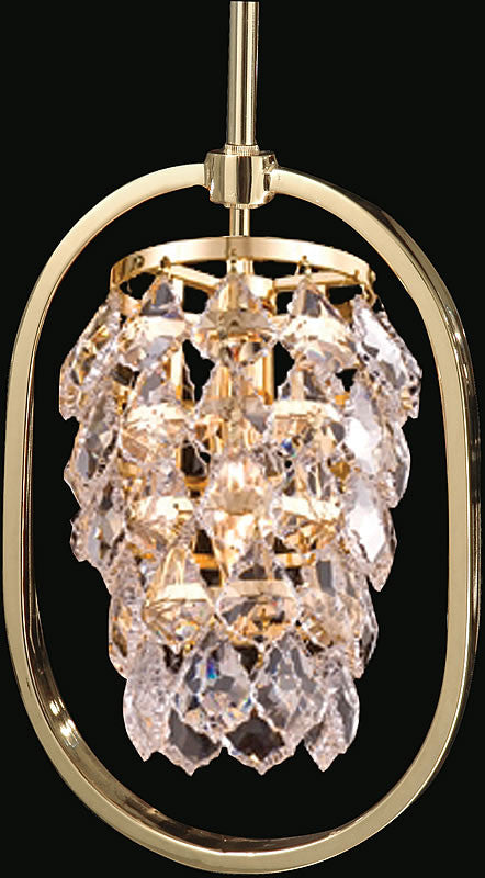 "8""w Regent Crystal Mini Pendant Gold"