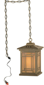 Dale Tiffany 1-Light Mica Mini Pendant Antique Brass TH10890