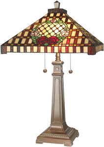 Dale Tiffany 2-Light Tiffany Table Lamp Antique Bronze 8920739