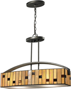 "24""w Mojave 2-Light Pendant Dark Bronze"