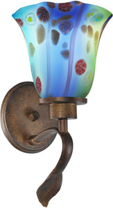 Dale Tiffany Morgan Art Glass Wall Sconce Antique Bronze AW14290