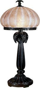 Dale Tiffany 1-Light Art Glass Table Lamp Florida Bronze PT100522
