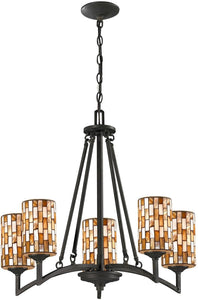Dale Tiffany Myriad 5-Light Pendant Textured Bronze TH12453