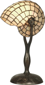 Dale Tiffany 1-Light Tiffany Table Lamp Antique Verde TT10346