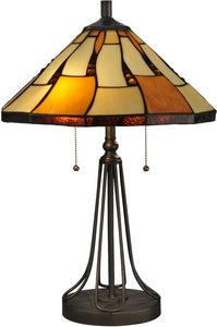 Dale Tiffany Nero Tiffany Table Lamp Antique Bronze TT13194