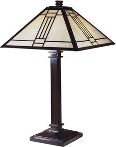 Dale Tiffany Noir Mission Table Lamp Mica Bronze TT100015