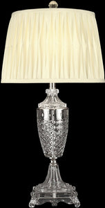 Dale Tiffany 1-Light 3-Way Glass Table Lamp Nickel GT10226