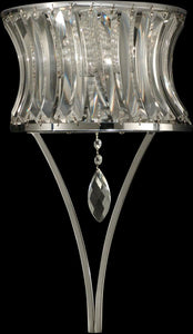 "10""w 2-Light Crystal Wall Sconce Polished Chrome"