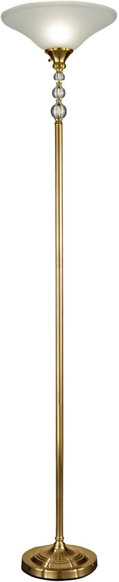 "72""H Optic Glass Orb 1-Light Floor Lamp Antique Brass"