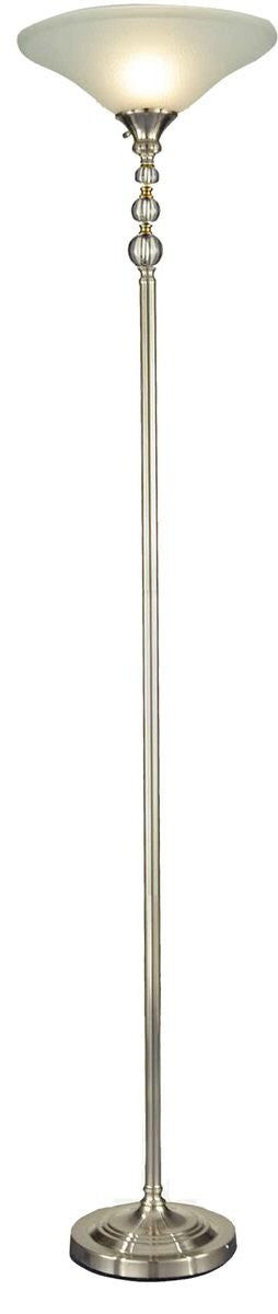 "Optic Orb 72""H 1-Light Torchiere Floor Lamp Nickel"