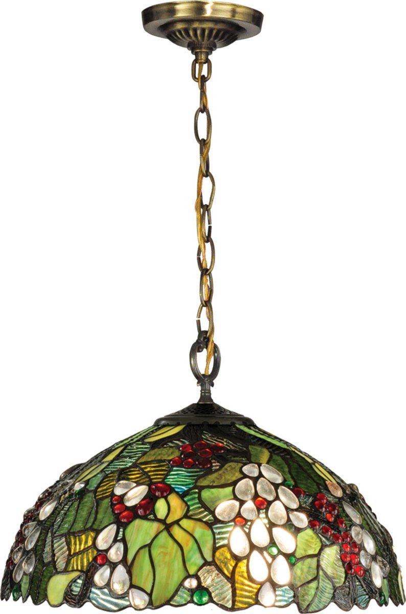 Paloma 1-Light Pendant Antique Brass