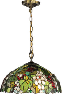 Dale Tiffany Paloma 1-Light Pendant Antique Brass TH13114