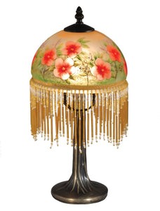Pansy Glass Accent Lamp Antique Bronze